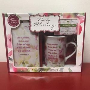 Daily Blessings 🙏🏼 Plaque, Tea and  Mug